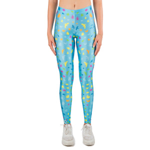 Blue Birds Leggings