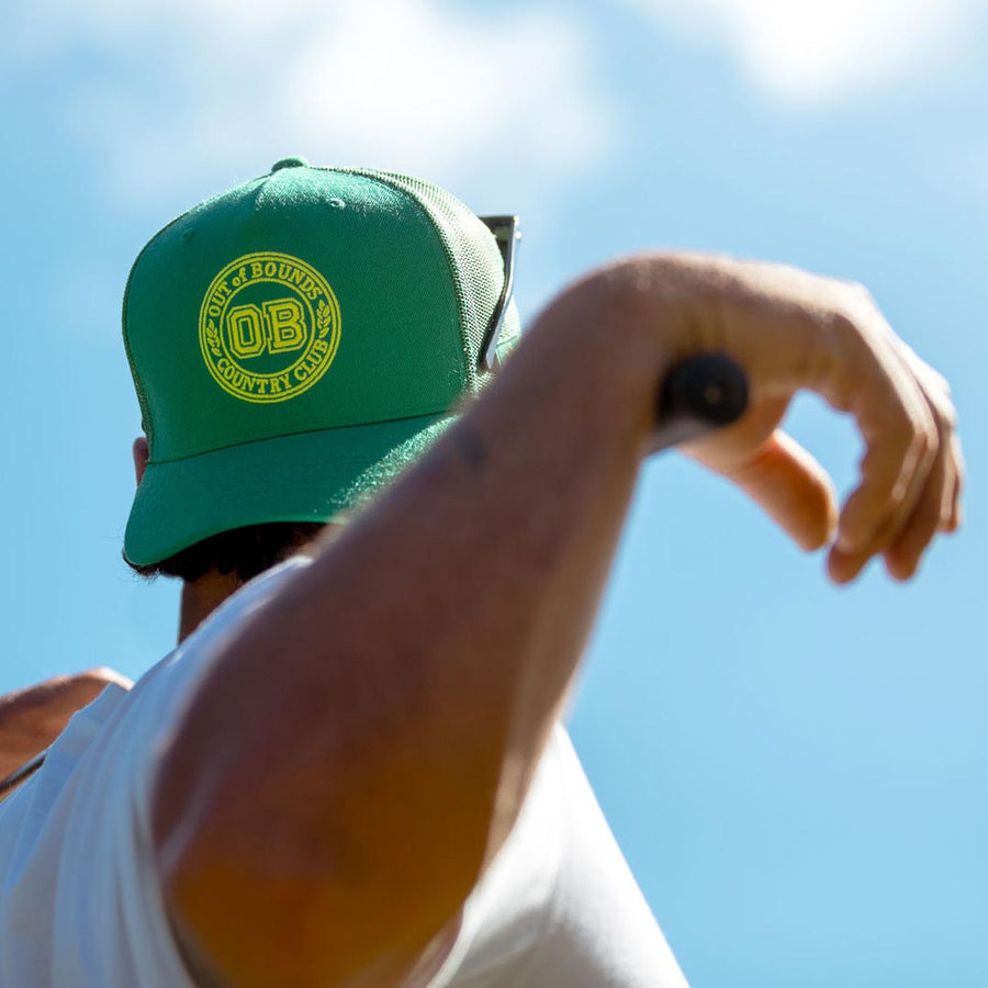 birds-of-condor-green-golf-out-of-bounds-trucker-hat-cap-front