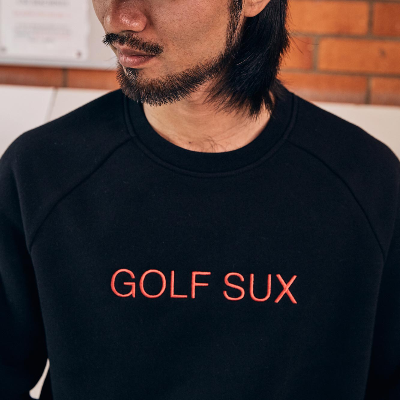 birds-of-condor-golf-sux-sweater-black-crew-neck-jumper-front.