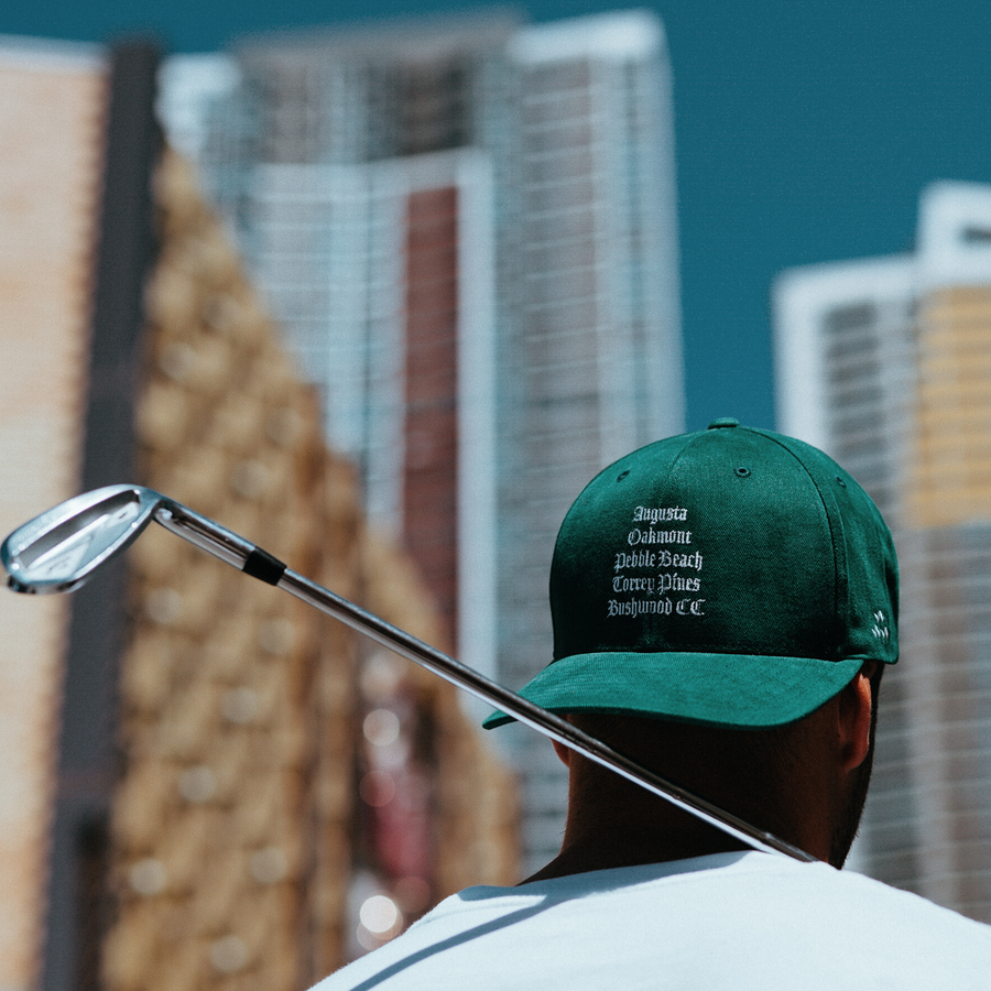 birds-of-condor-snapback-golf-hat-augusta-the-masters-oakmont-pebble-beach-torrey-pines-bushwood-country-club-course-front