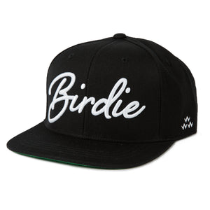 birds-of-condor-black-golf-birdie-snapback-hat-front