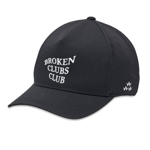 birds-of-condor-black-golf-broken-clubs-club-snapback-a-frame-hat-front