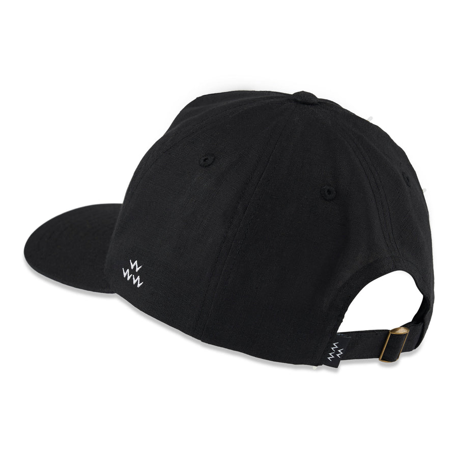 birds-of-condor-black-hemp-golf-fescue-grass-golf-hat-cap-front
