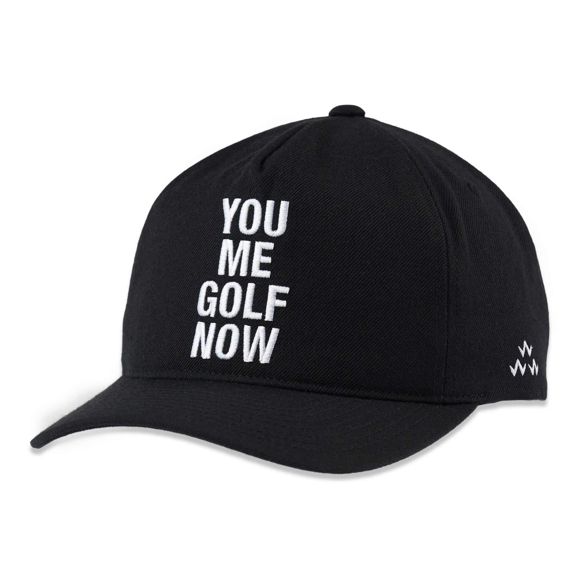 birds-of-condor-black-you-me-golf-now-snapback-hat-cap-front