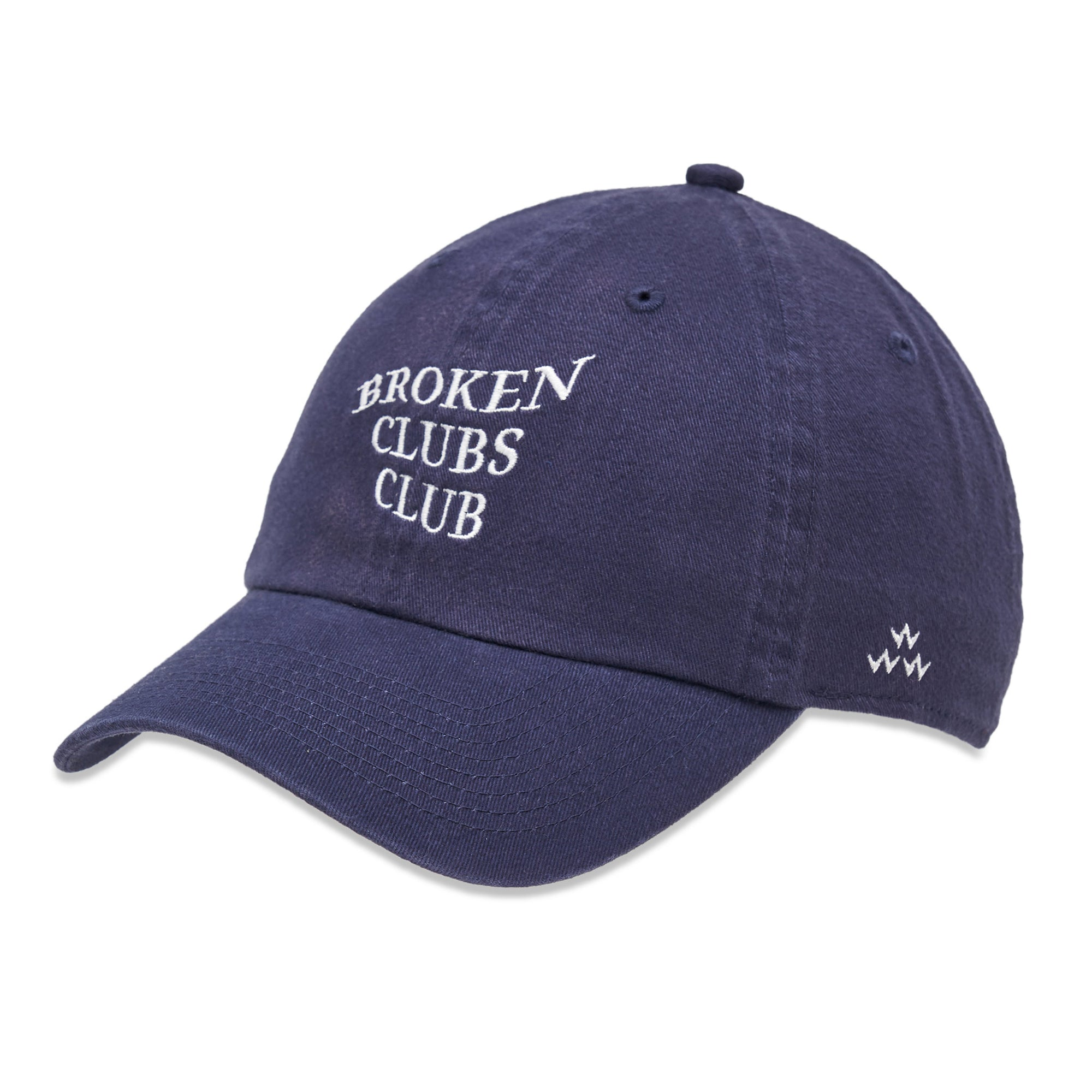 birds-of-condor-blue-golf-broken-clubs-club-dad-cap-hat-front