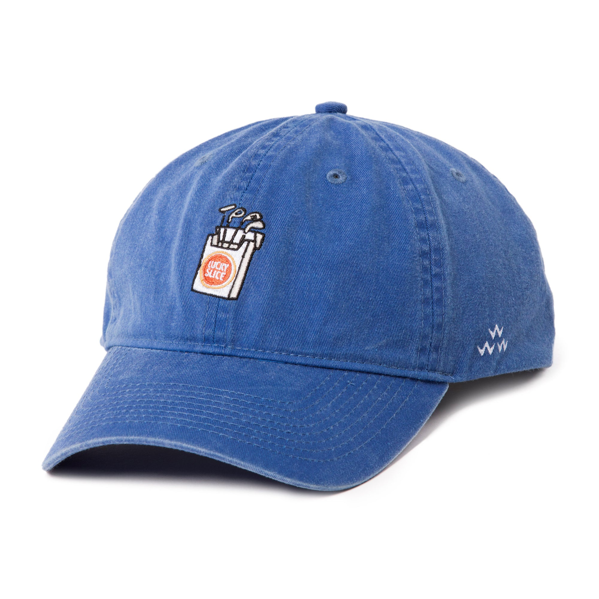 birds-of-condor-blue-golf-lucky-slice-dad-cap-hat-front