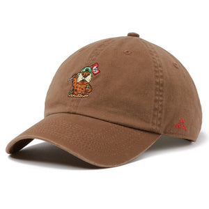 birds-of-condor-brown-golf-shacked-caddy-shack-dad-cap-hat-front
