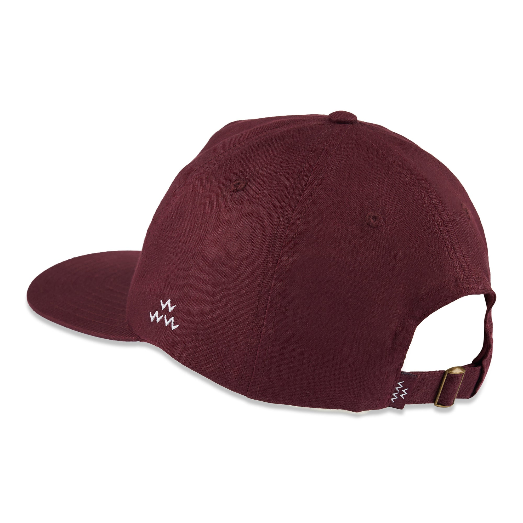 birds-of-condor-burgundy-hemp-golf-green-dreams-hat-cap-front