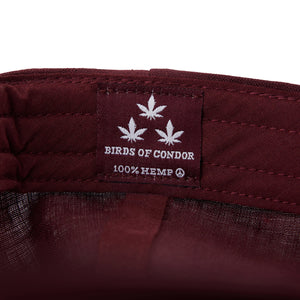 birds-of-condor-burgundy-hemp-golf-green-dreams-hat-cap-inside