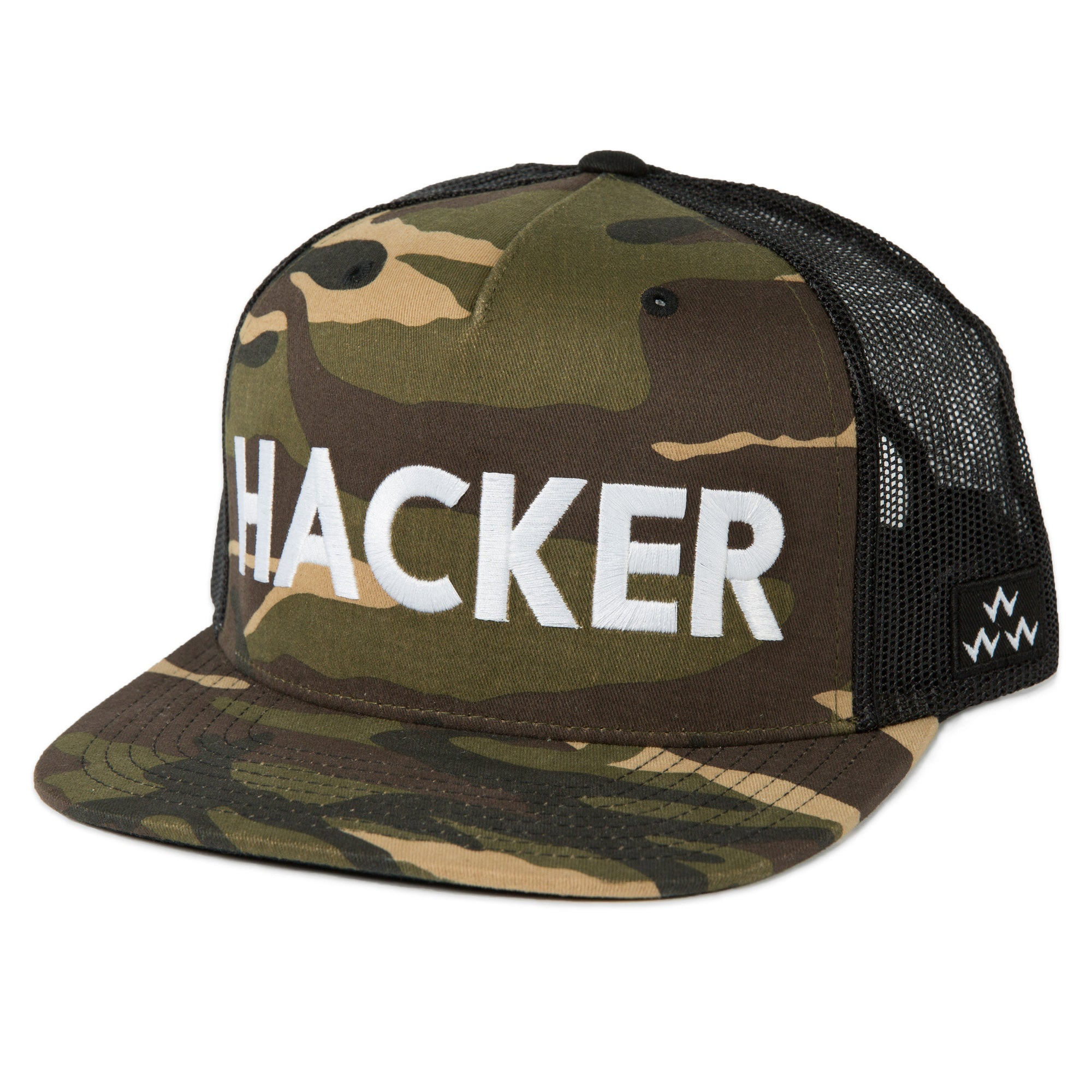 birds-of-condor-camo-golf-hacker-trucker-hat-cap-front