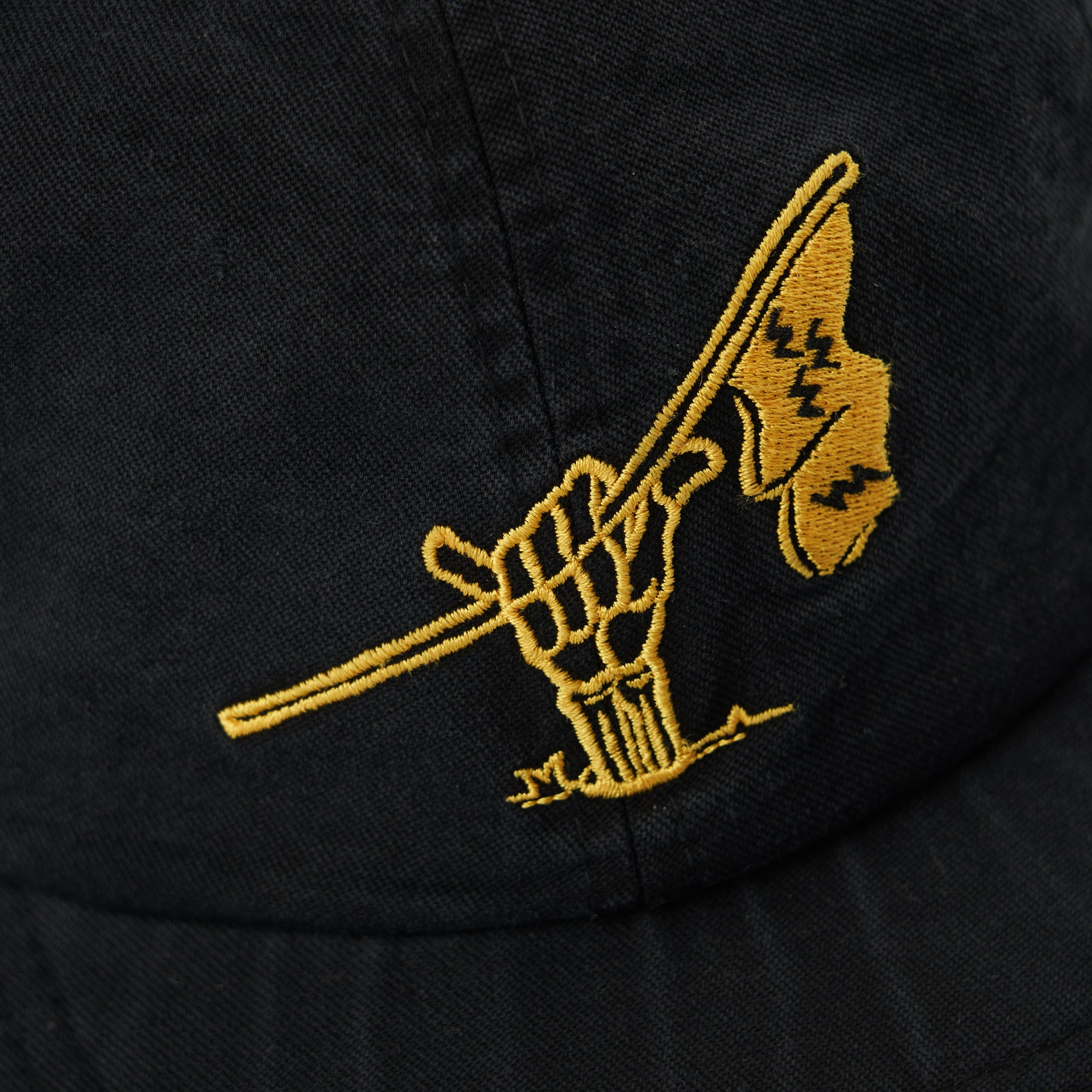birds-of-condor-electric-black-flag-raiders-golf-hat-dad-cap-front
