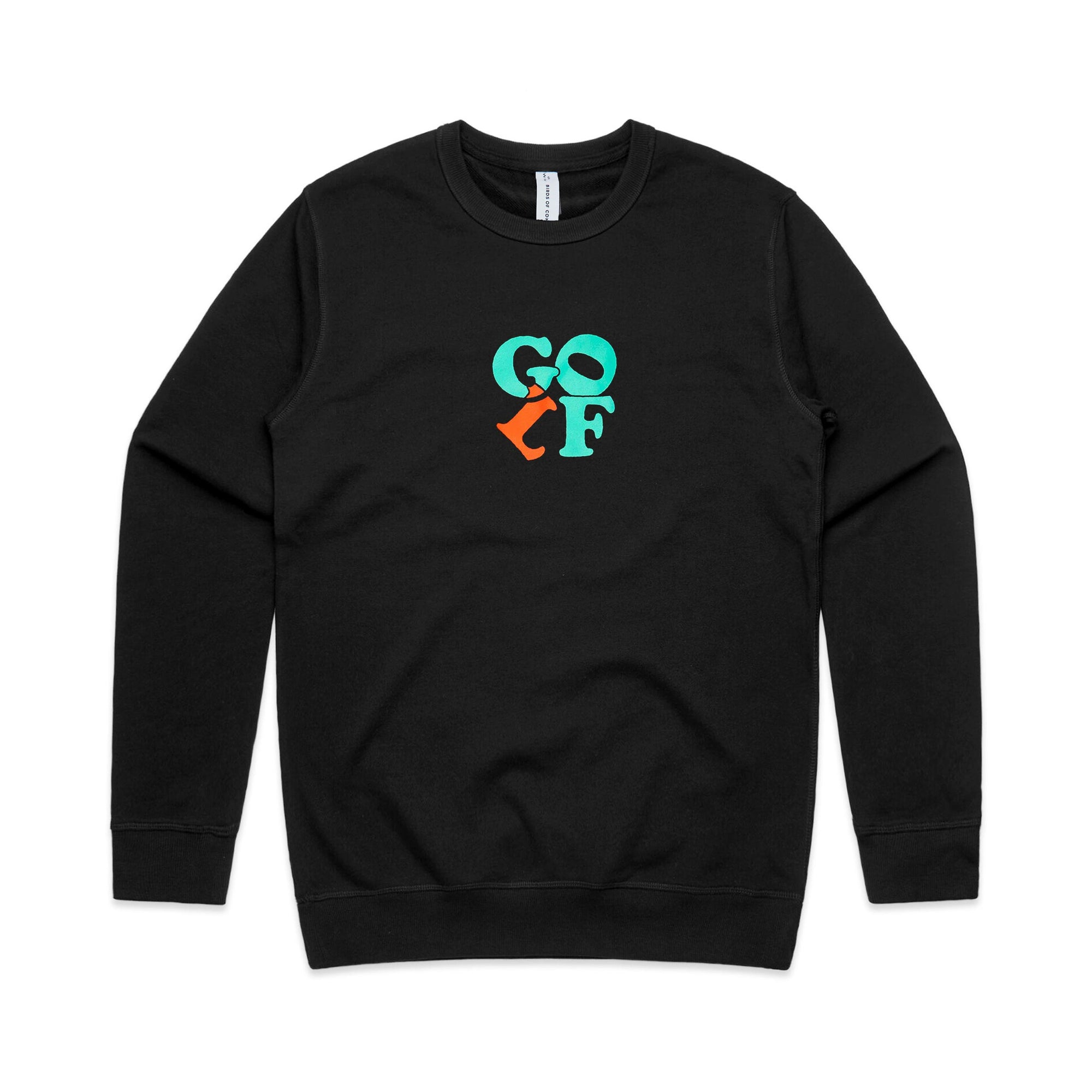 birds-of-condor-golf-sweater-black-crew-neck-jumper-front