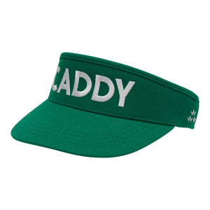 birds-of-condor-green-golf-caddy-caddie-visor-hat-front
