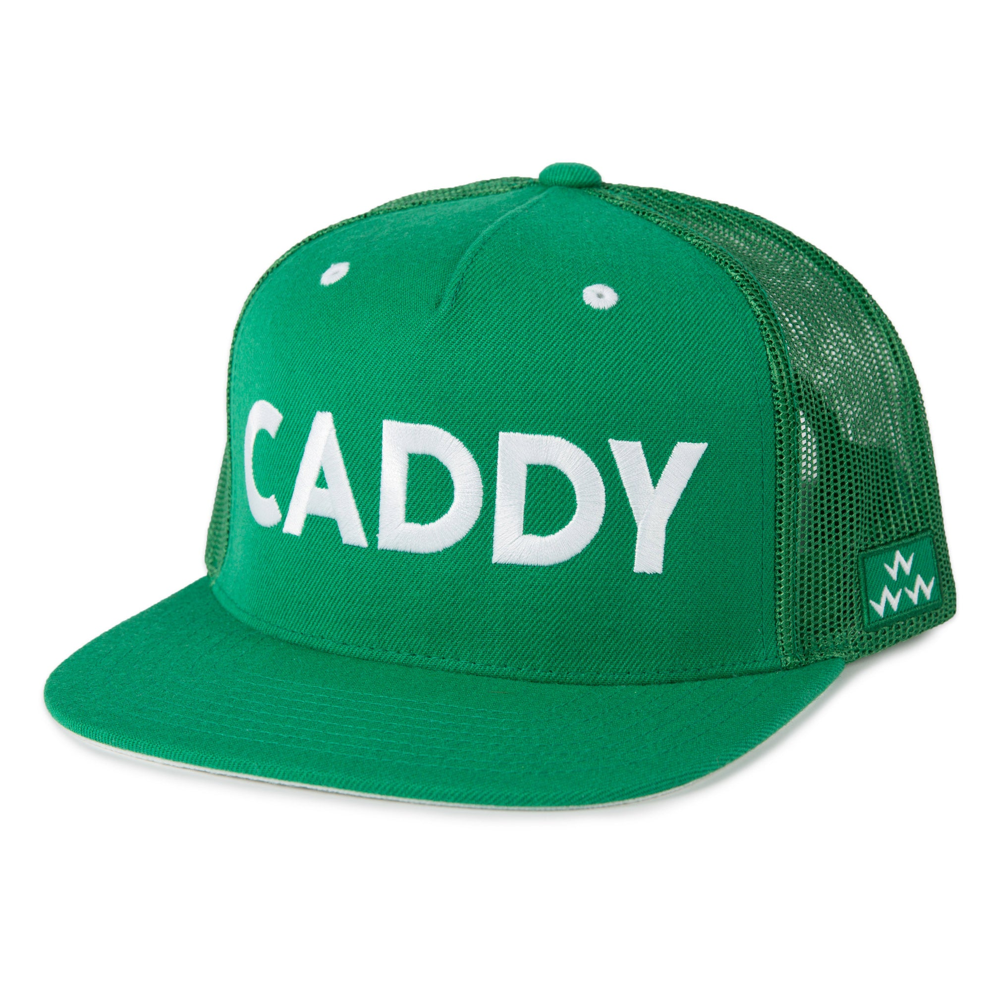 birds-of-condor-green-golf-caddy-trucker-hat-cap-front