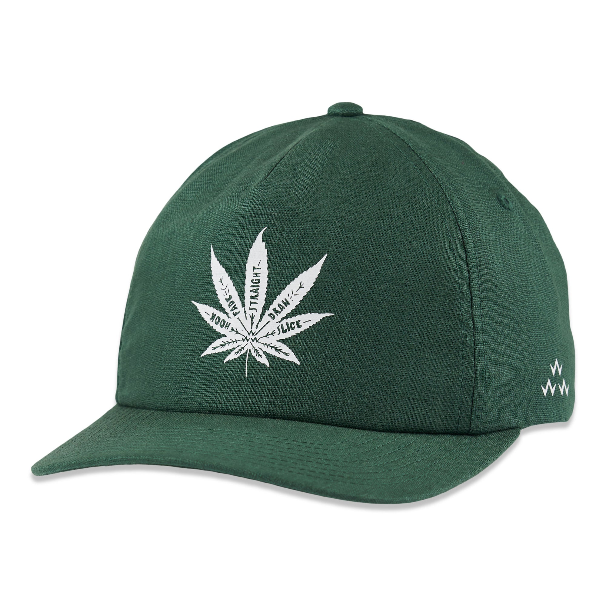 birds-of-condor-green-hemp-golf-shot-tracer-hat-cap-front