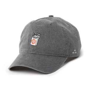 birds-of-condor-grey-golf-lucky-slice-dad-cap-hat-front
