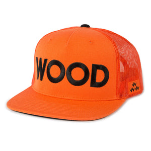 birds-of-condor-orange-golf-wood-trucker-hat-cap-front
