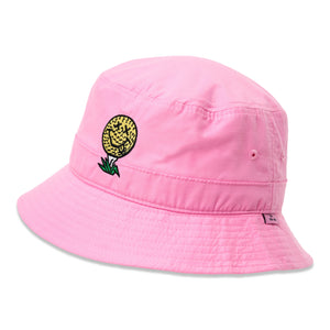 birds-of-condor-pink-golf-ball-neverfind-bucket-hat-front