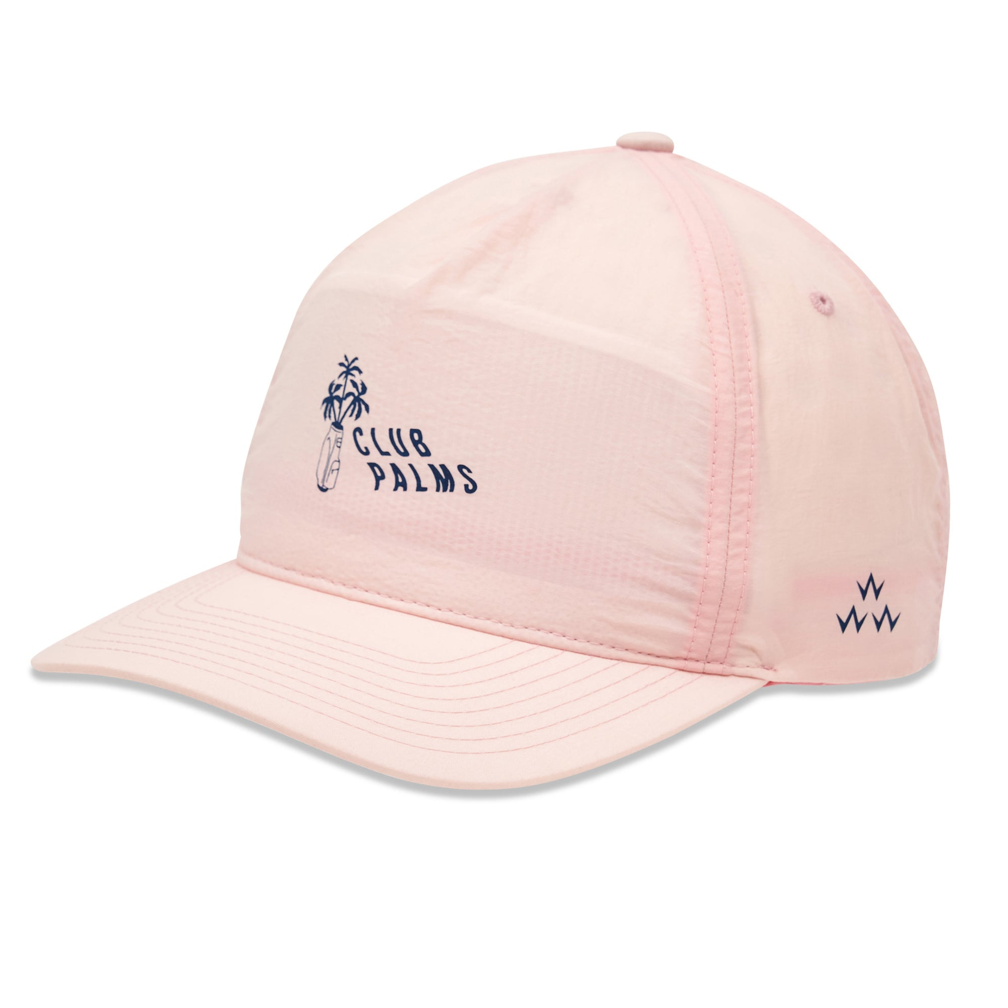 birds-of-condor-pink-golf-club-palms-nylon-summer-cap-hat-front