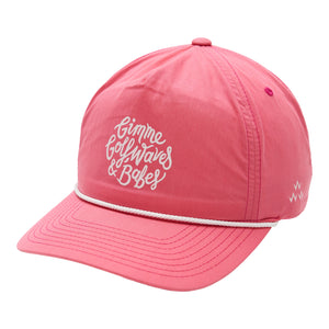 birds-of-condor-pink-golf-gimme-waves-babes-nylon-summer-cap-hat-front