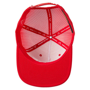 birds-of-condor-red-golf-fore-trucker-hat-cap-inside
