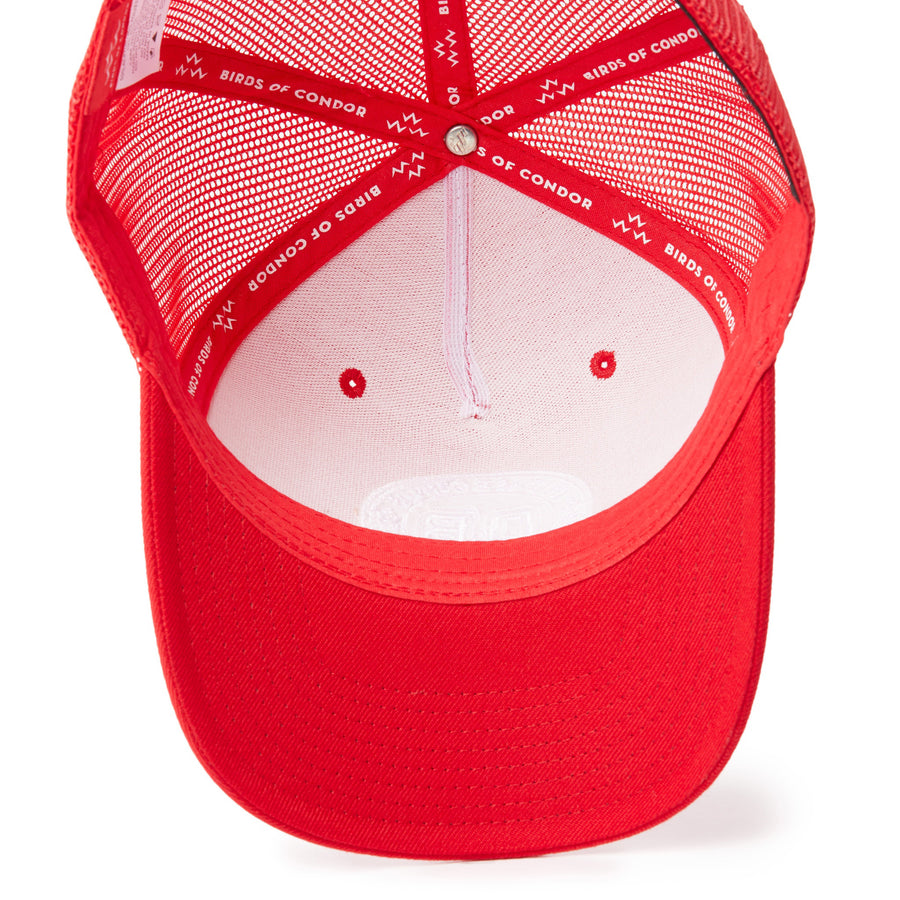 birds-of-condor-red-golf-out-of-bounds-country-club-snapback-a-frame-hat-front