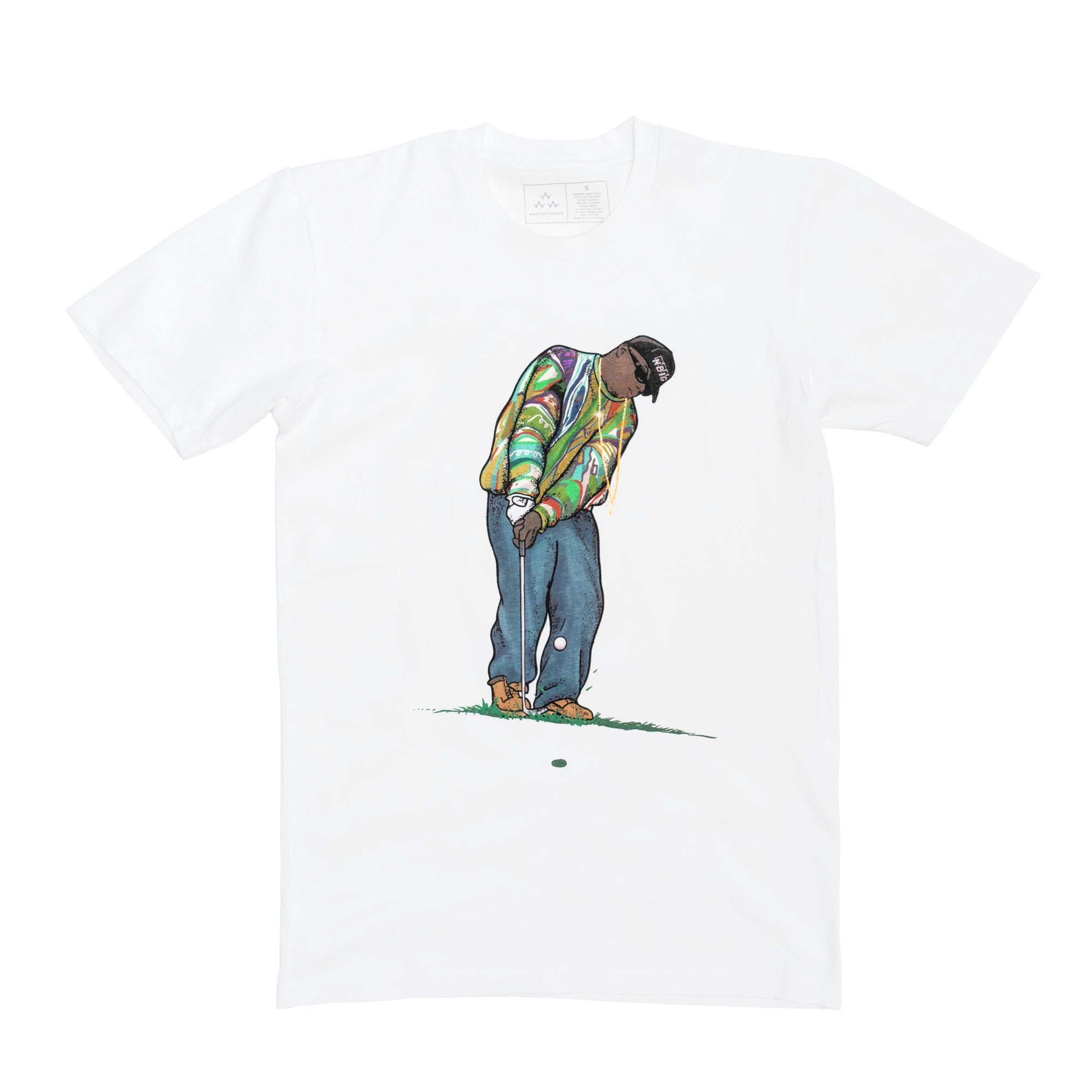 birds-of-condor-white-golf-big-floppa-biggie-smalls-tee-shirt-front