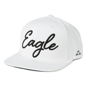 birds-of-condor-white-golf-eagle-snapback-hat-front