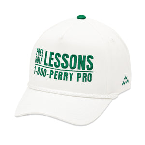 birds-of-condor-white-perry-pro-golf-lessons-snapback-a-frame-hat-front