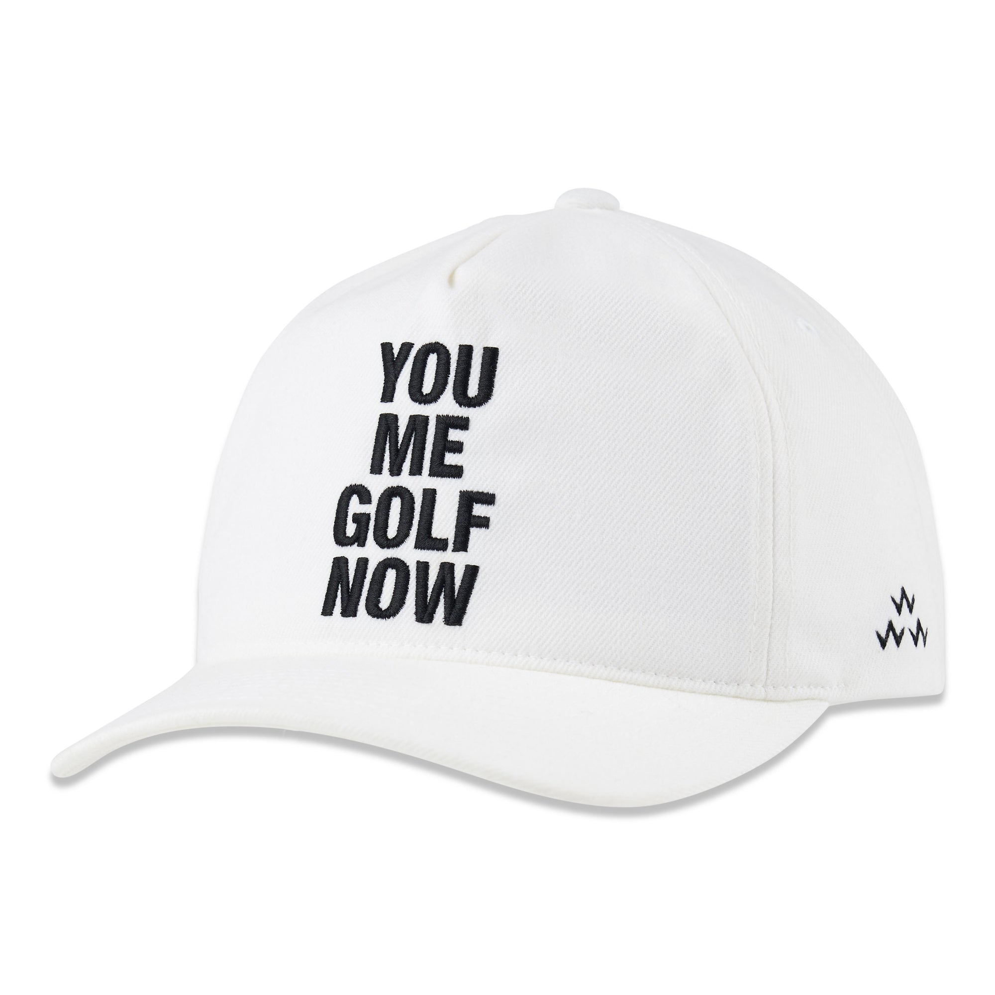birds-of-condor-white-you-me-golf-now-snapback-hat-front