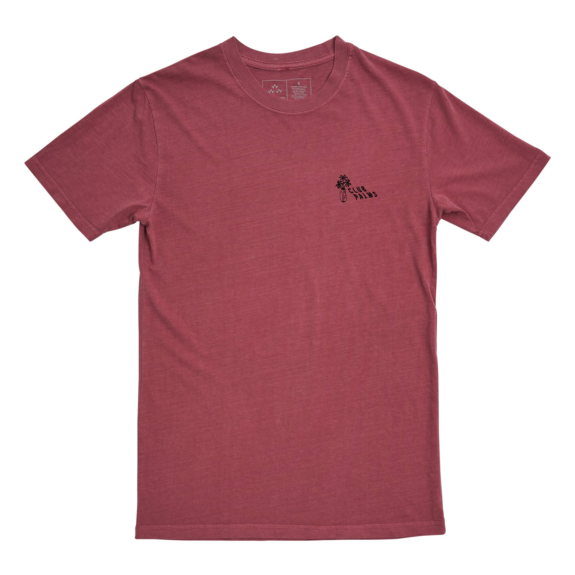 birds-of-condor-wine-burgundy-golf-tee-shirt-club-palms-front