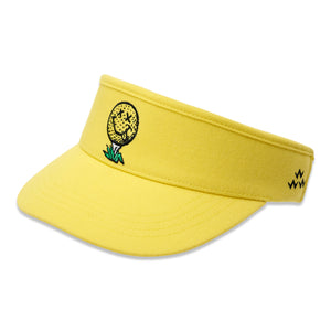 birds-of-condor-yellow-golf-ball-neverfind-visor-hat-front