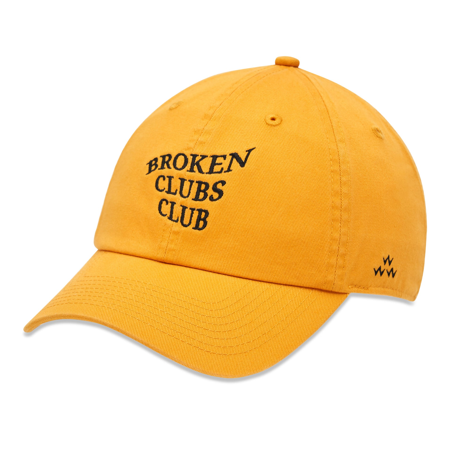 birds-of-condor-yellow-golf-broken-clubs-club-dad-cap-hat-front
