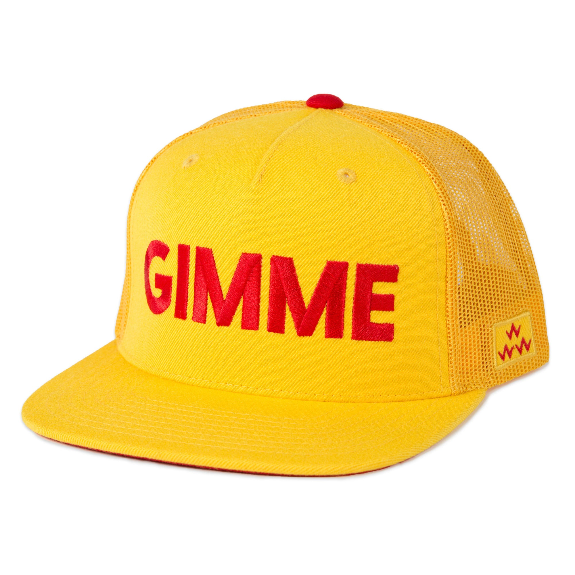 birds-of-condor-yellow-golf-gimme-trucker-hat-cap-front