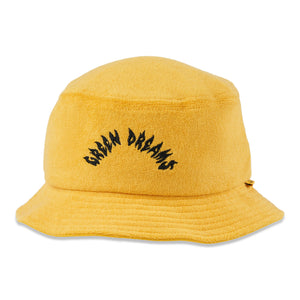 birds-of-condor-yellow-golf-green-dreams-terry-towelling-bucket-hat-front