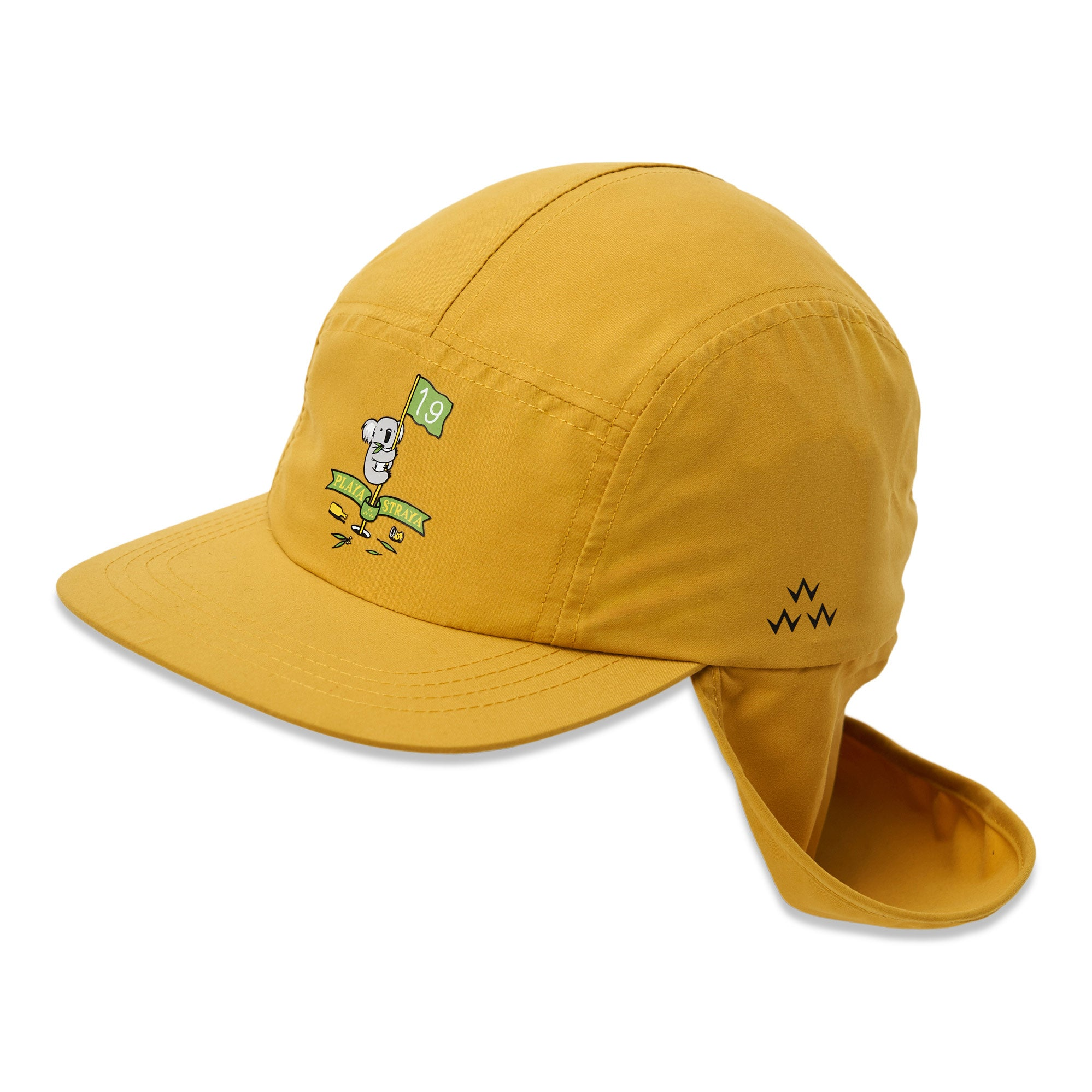 birds-of-condor-yellow-golf-legionnaires-koala-australia-hat-cap-front