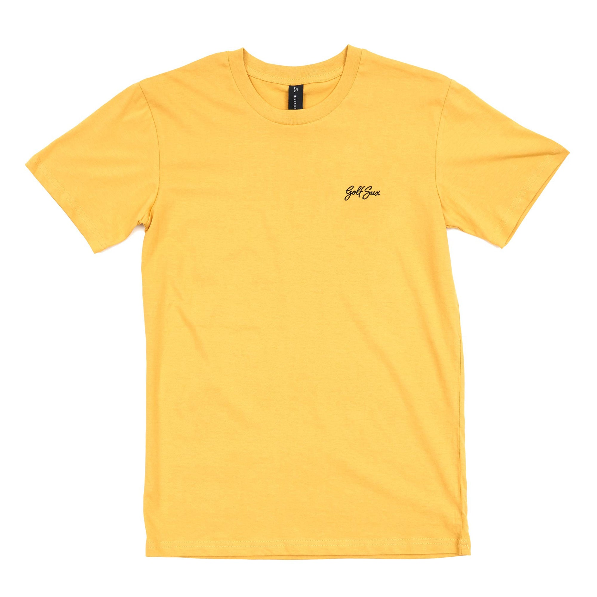birds-of-condor-yellow-golf-sux-tee-shirt-front