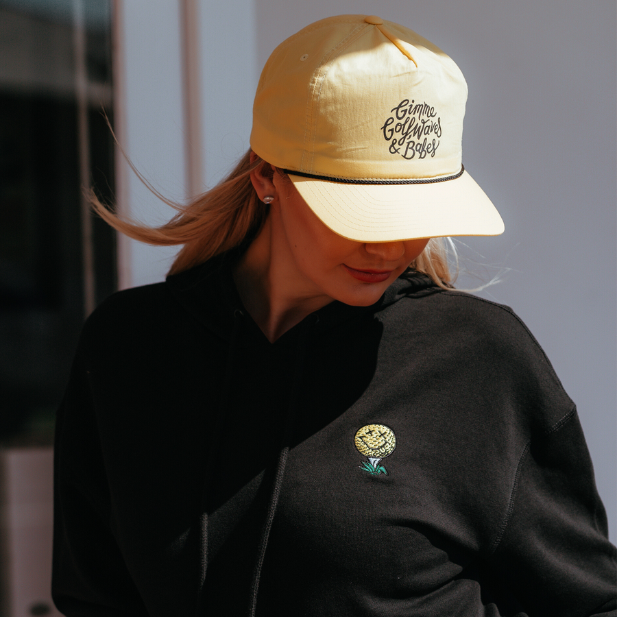 birds-of-condor-yellow-golf-gimme-waves-babes-nylon-summer-cap-hat-front