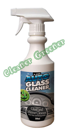 X-OUT AUTO GLASS CLEANER