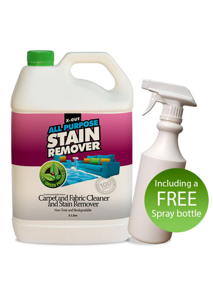 X-OUT ALL PURPOSE CARPET & FABRIC STAIN REMOVER <br>5 litre Bulk Pack