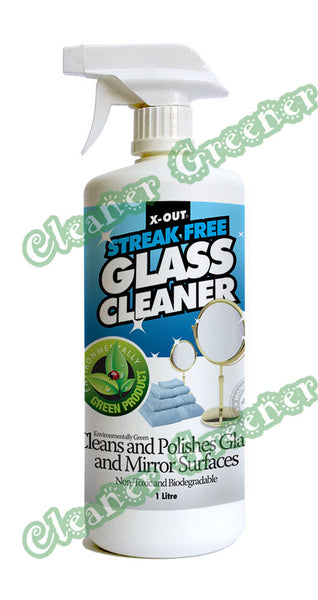X-OUT STREAK-FREE GLASS & MIRROR CLEANER/POLISHER
