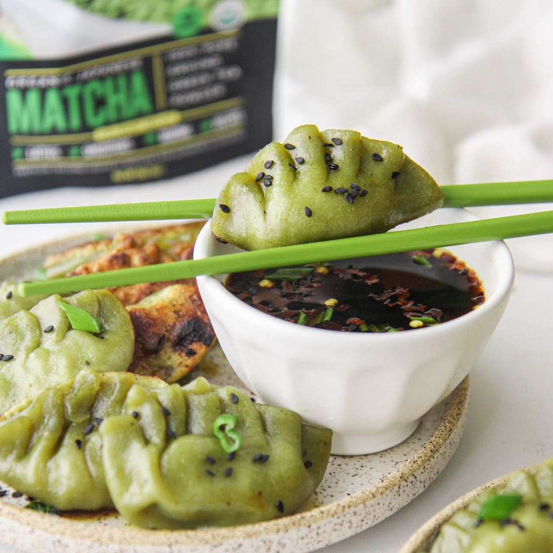 Paleo Matcha Pot Stickers