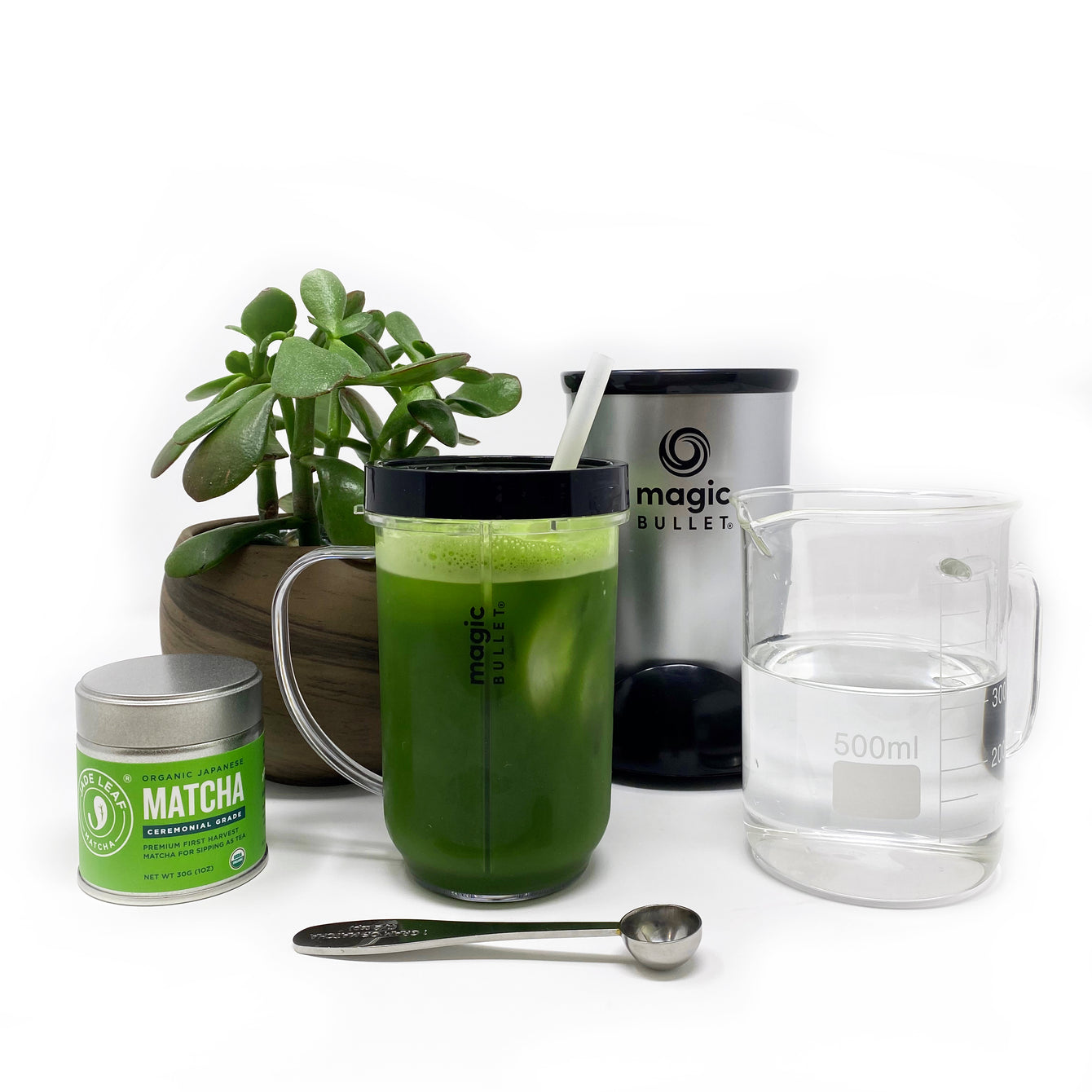 Magic Bullet Iced Matcha Tea