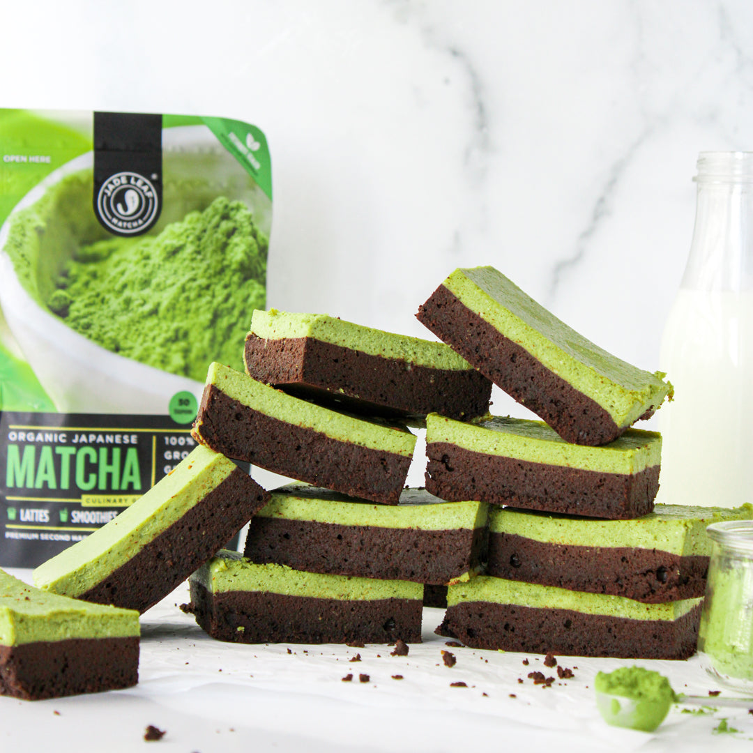 Keto Matcha Cheesecake Brownie Bites