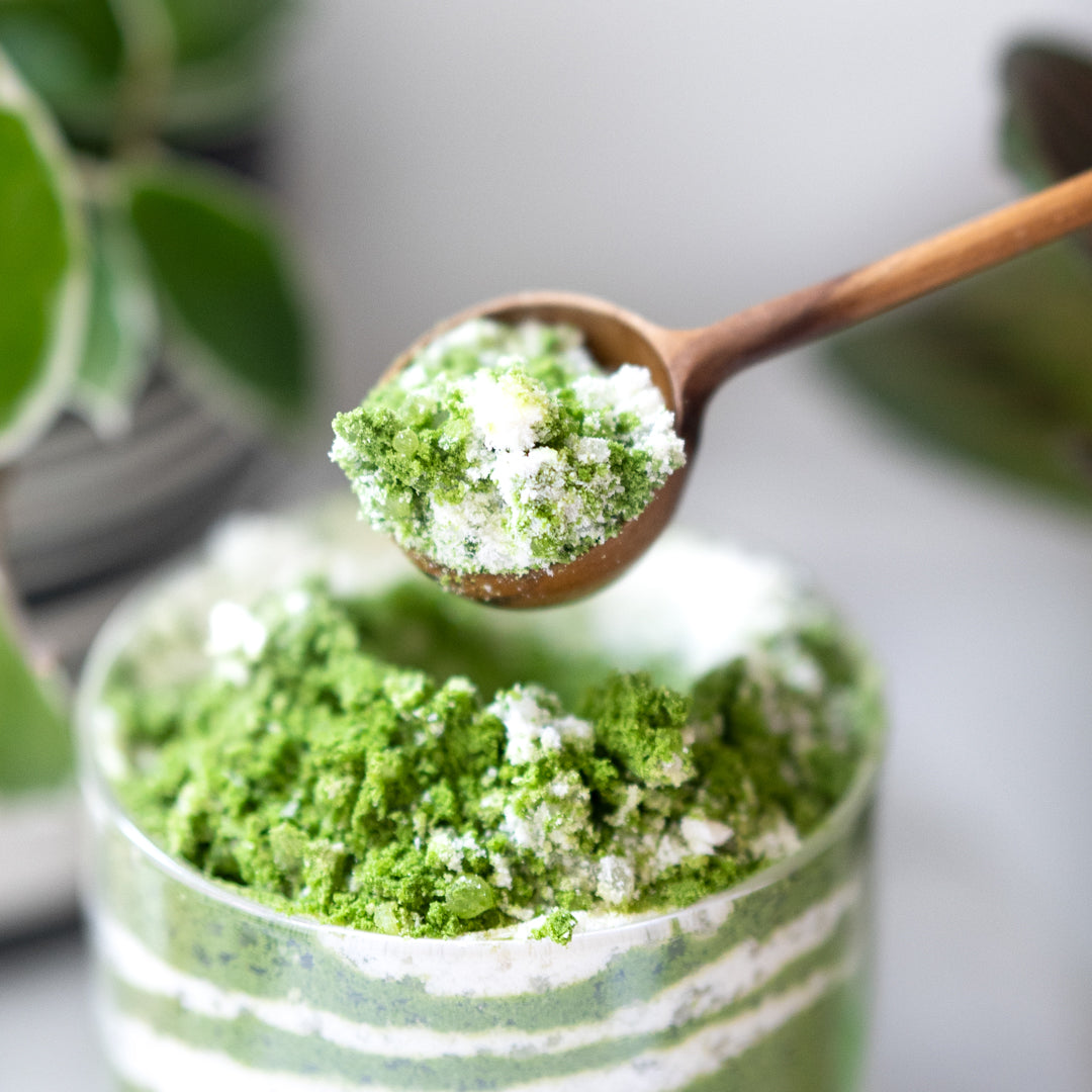 DIY Matcha Latte Milk Bath