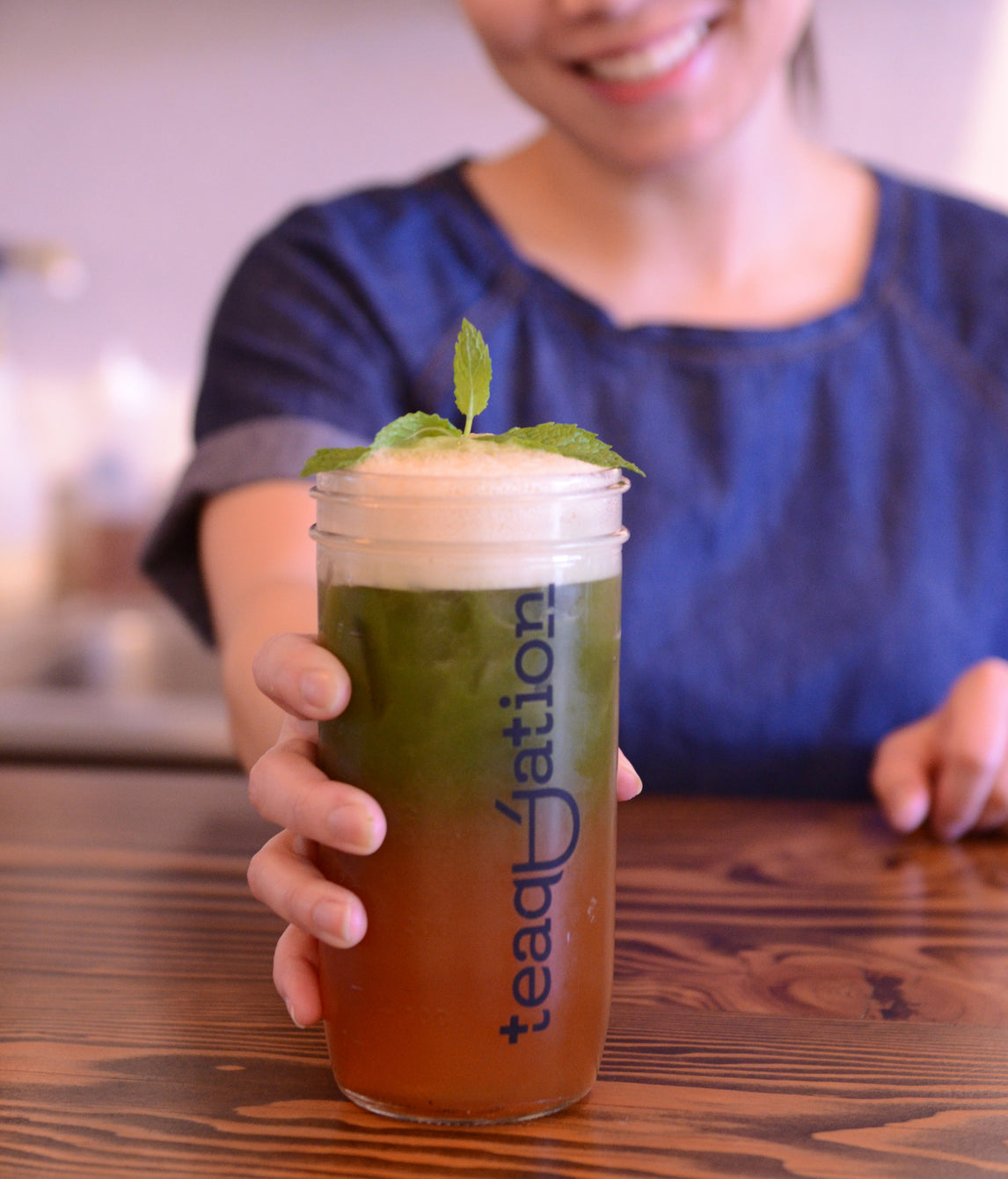 Kryptonite Matcha Tea Cocktail by Teaquation