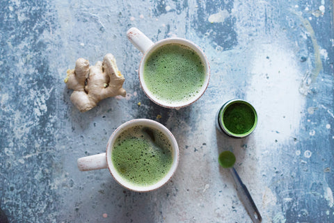 Hot Apple Ginger Matcha