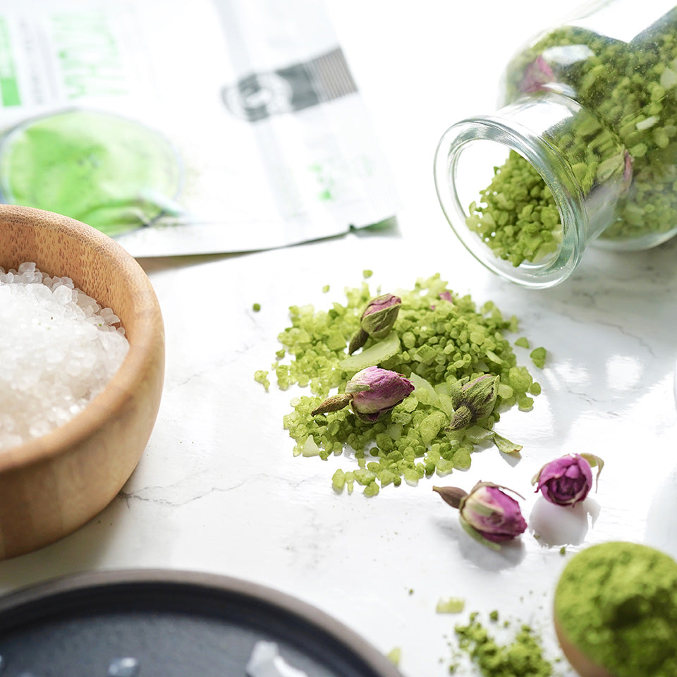 DIY Matcha Bath Salts