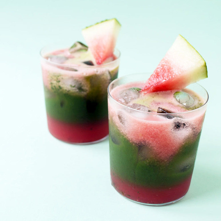 Watermelon Water + Matcha Cold-Brew