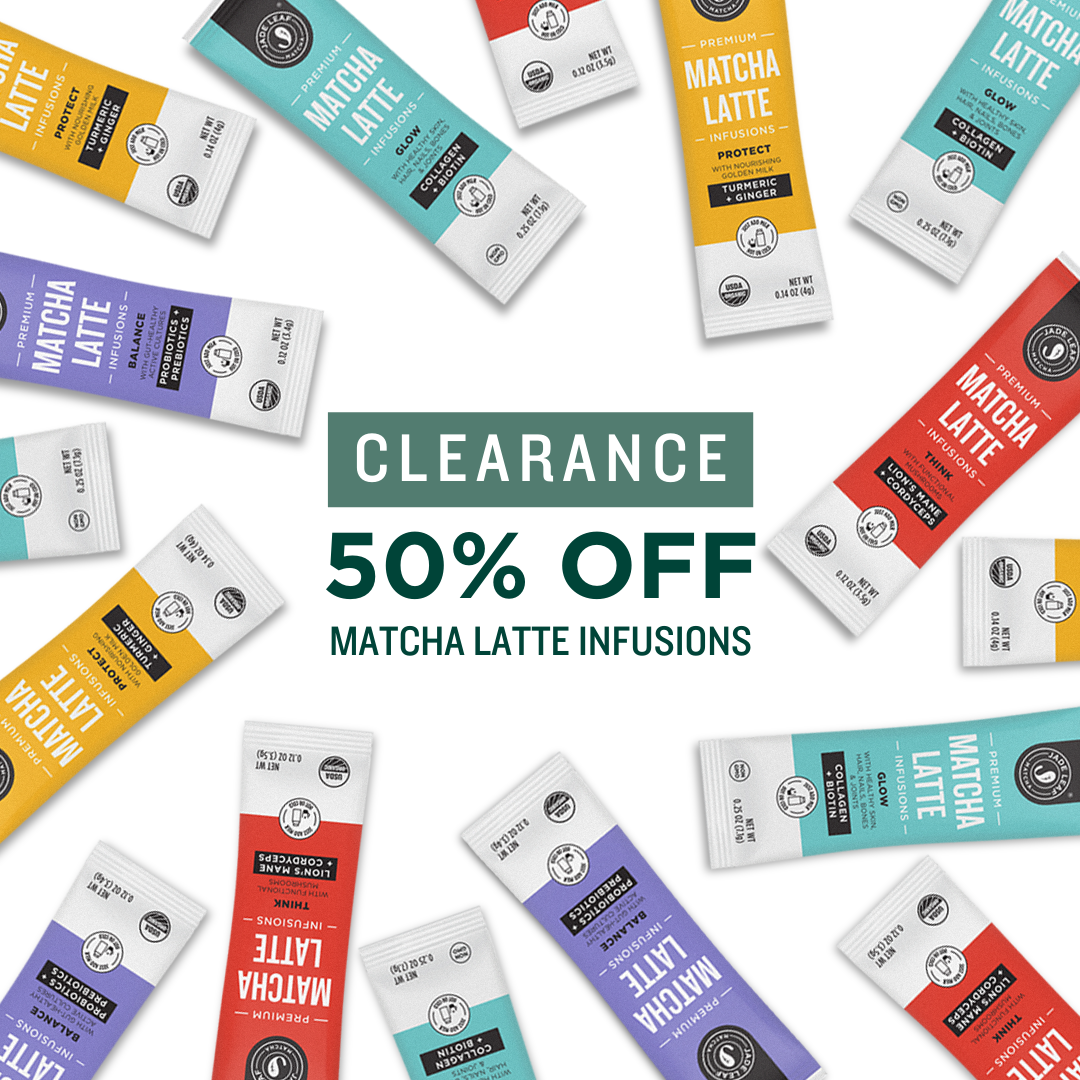 Goodbye Clearance: 50% off Matcha Latte Infusions